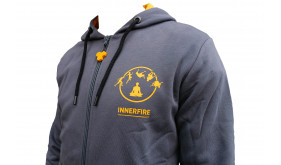 The new & improved Innerfire hoodie. The wonderfully soft, high quality fabric of this sweatshirt warms you right back up after those cold showers.