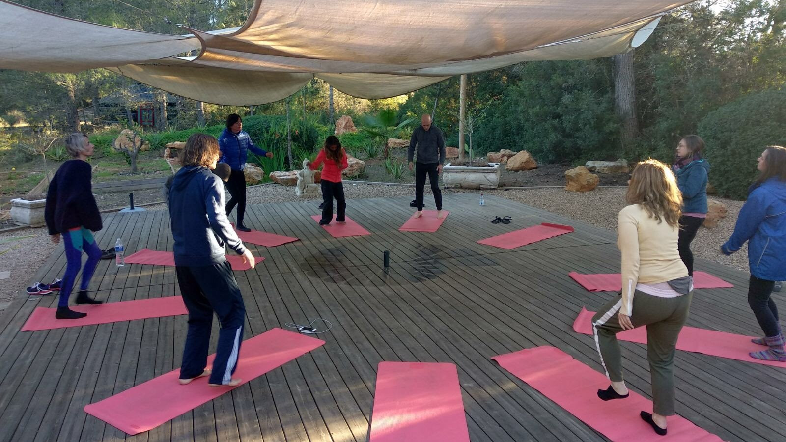 Image 9 of 12 - Experience Yoga to get an impression of WHM Travel Experience at Sant Llorenc de Balafia